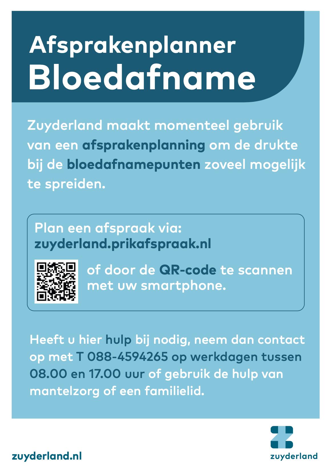 Zuiderland afsprakenplanner bloedafname